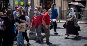 Israelíes en una calle