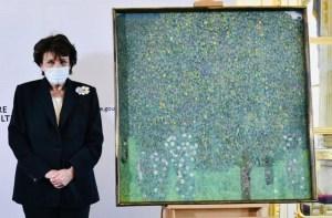 """Obra """"Rosales bajo los árboles"""" Gustav Klimt"""