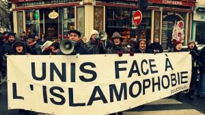 Marcha contra la islamofobia en Francia