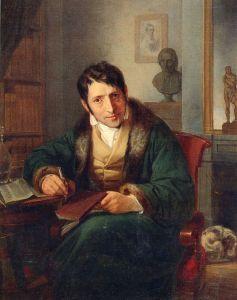 Retrato Ludwig Börne. Pintor judío Oppenheim