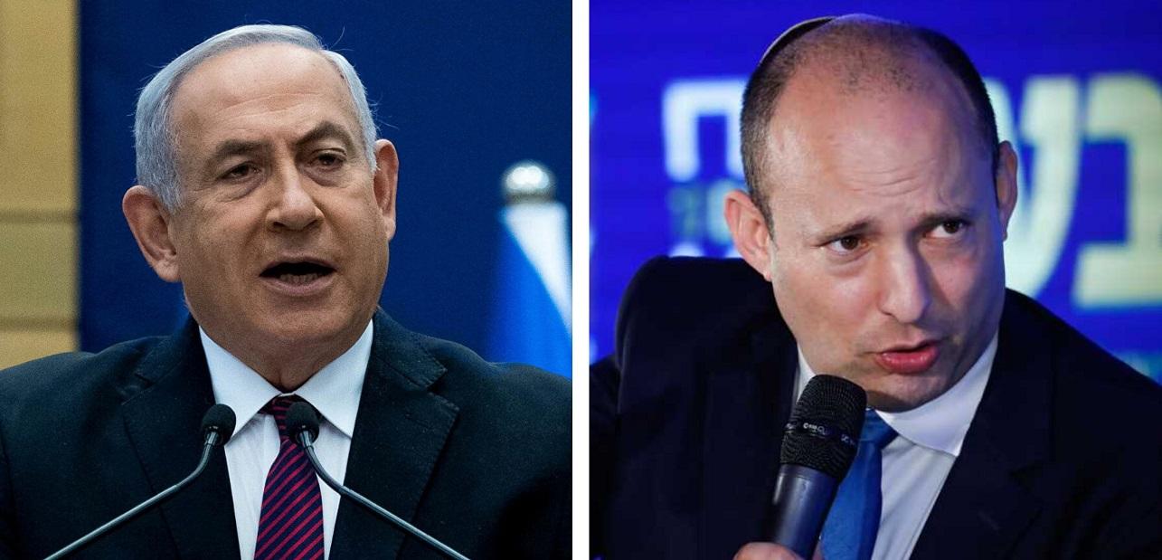 Benjamín Netanyahu y Naftali Bennett