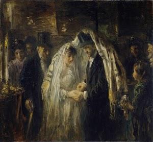 Boda judía. Pintor judío Jozef Isräel
