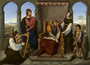 David tocando ante Saul. Pintor judío Openheim