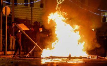 Protesta de palestinos en Jerusalén