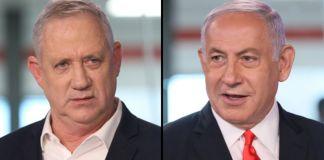 Primer ministro de Israel, Benjamín Netanyahu, Ministro de Justicia, Benny Gantz