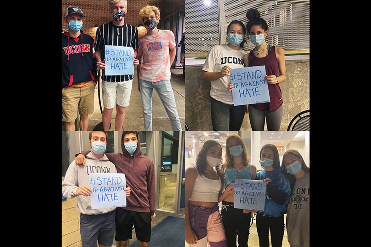 """Denuncia fraternidad judía en la Universidad de Connecticut haber encontrado esvásticas y un símbolo de las """"SS"""" nazis graffitados en edificios del campus"""