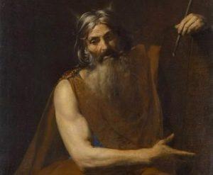 Moisés escuchando a D-os tras la entrega de los Diez Mandamientos