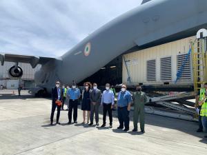 Israel envió equipos médicos en un avión de la Fuerza Aérea de la India que salió del aeropuerto Ben Gurion para ayudar en su lucha contra el COVID-19