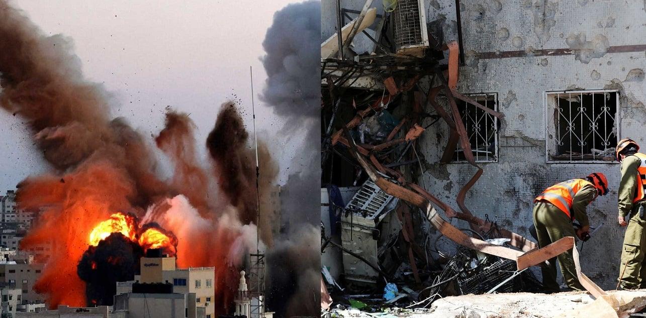 Ataque en Gaza y resultado de ataque contra Israel