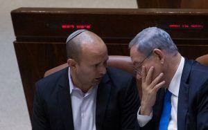 Primer ministro de Israel, Benjamín Netanyahu-líder de Yamina, Naftali Bennett