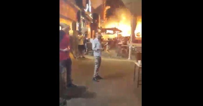 VIDEO: Captan en Holón impacto de cohete disparado desde Gaza