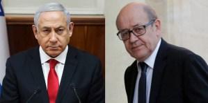 Benjamín Netanyahu y Jean-Yves Le Drian