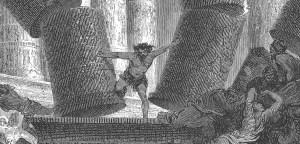 Grabado de Sansón de Gustave Doré