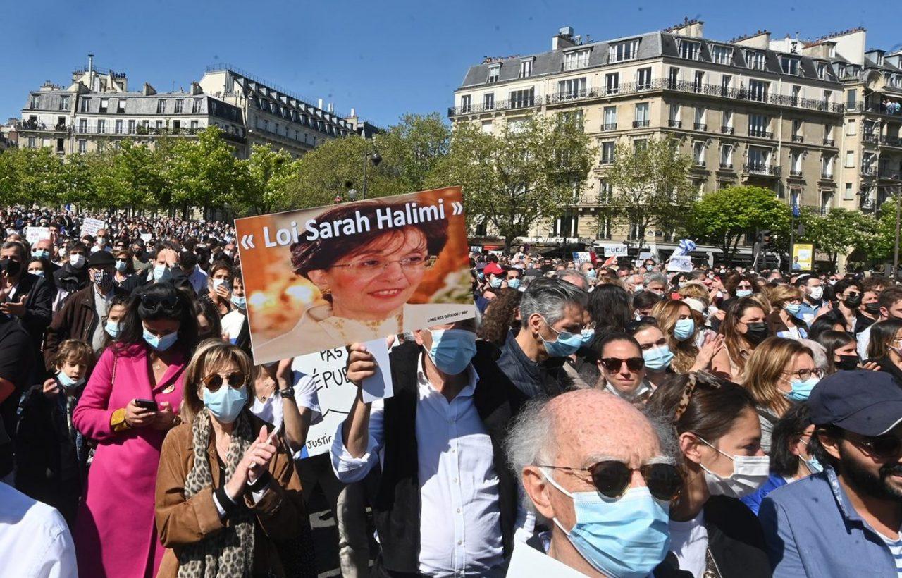 Manifestación judía en Francia