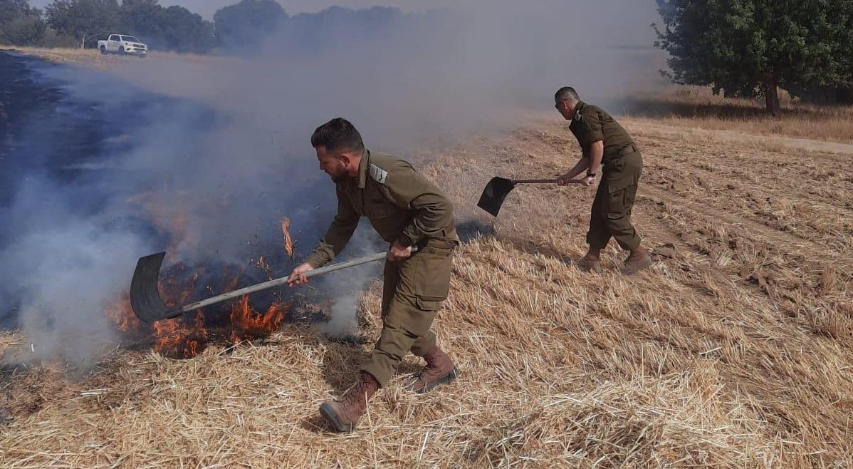 Incendio en el sur de Israel