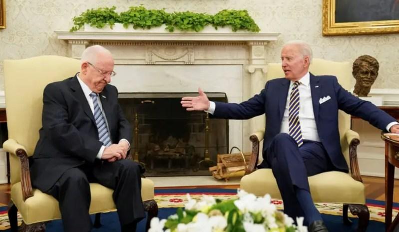 El presidente de Israel, Reuven Rivlin se reúne con el presidente de EE.UU. Joe Biden en la Casa Blanca