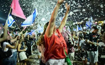 Festejos por el fin del gobieno de Netanyahu