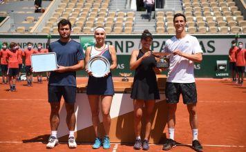 El tenista ruso-israelí Aslan Karatsev y su compañera, Elena Vesnina, fueron derrotados en la final por el título de dobles mixtos en el Abierto de Francia