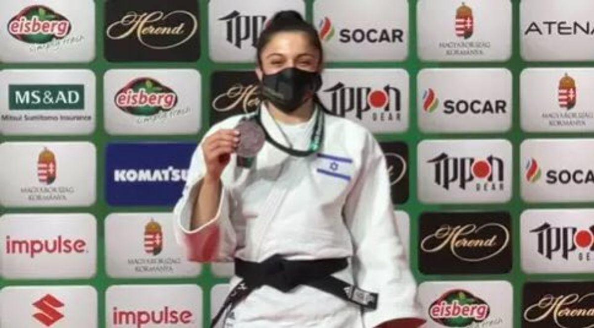 La judoca israelí Gefen Primo ganó una medalla en el Campeonato Mundial por primera vez en su carrera, llevándose el bronce