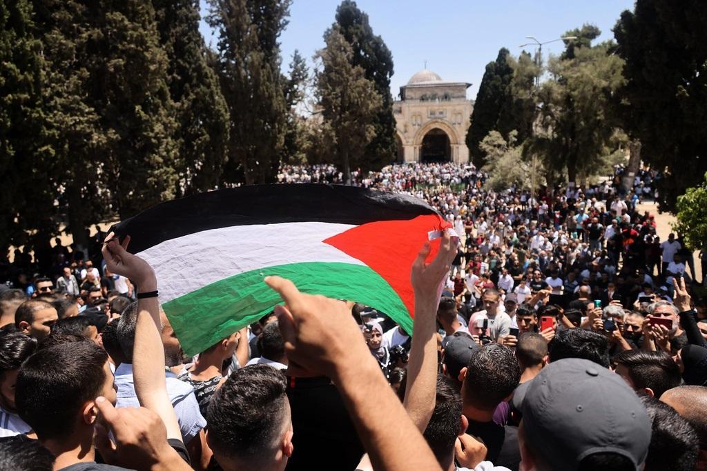 Palestinos en el Monte del Templo