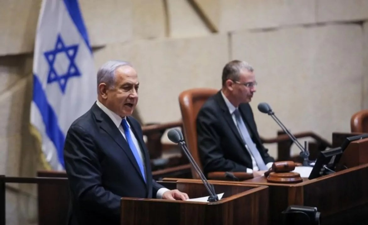 Netanyahu en la Knéset