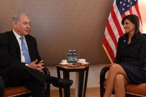 """Netanyahu recibe a Nikki Haley en su residencia """"oficial"""""""