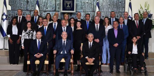 El nuevo gobierno de Israel se toma la foto oficial con el presidente