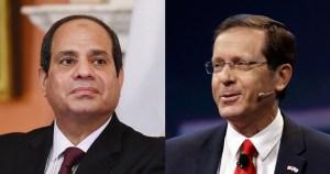 Abdelfatah el Sisi e Yitzhak Herzog