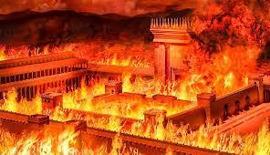 Jerusalen quemándose en Tishá B'Av