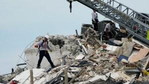 Zona del edificio colapsado en Surfside