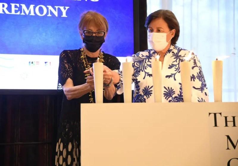 La ceremonia en memoria de las víctimas de la masacre de Munich celebrada en Tokio.
