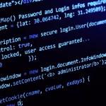 Código informático en una computadora