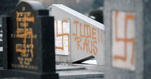 Cementerio judío vandalizado
