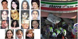 Un 9 de agosto, hace 20 años, un atacante suicida mató a 15 civiles, incluidos 4 niños, e hirió a otros 130 en la pizzería Sbarro en Jerusalén
