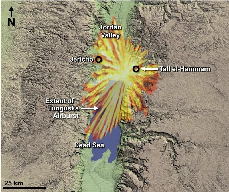 mapa del lugar donde supuestamente estuvo Sodoma