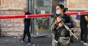 Lugar de un acuchillamiento en Israel