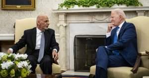 Ashraf Ghani y Joe Biden