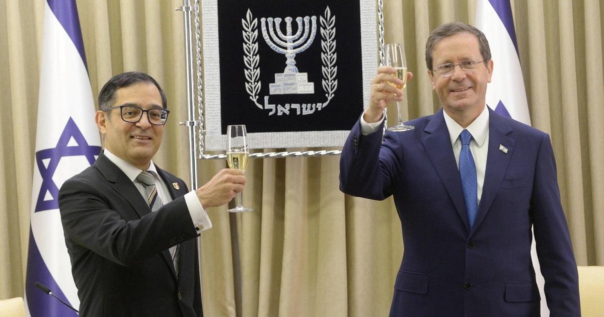 Mauricio Escanero e Yitzhak Herzog