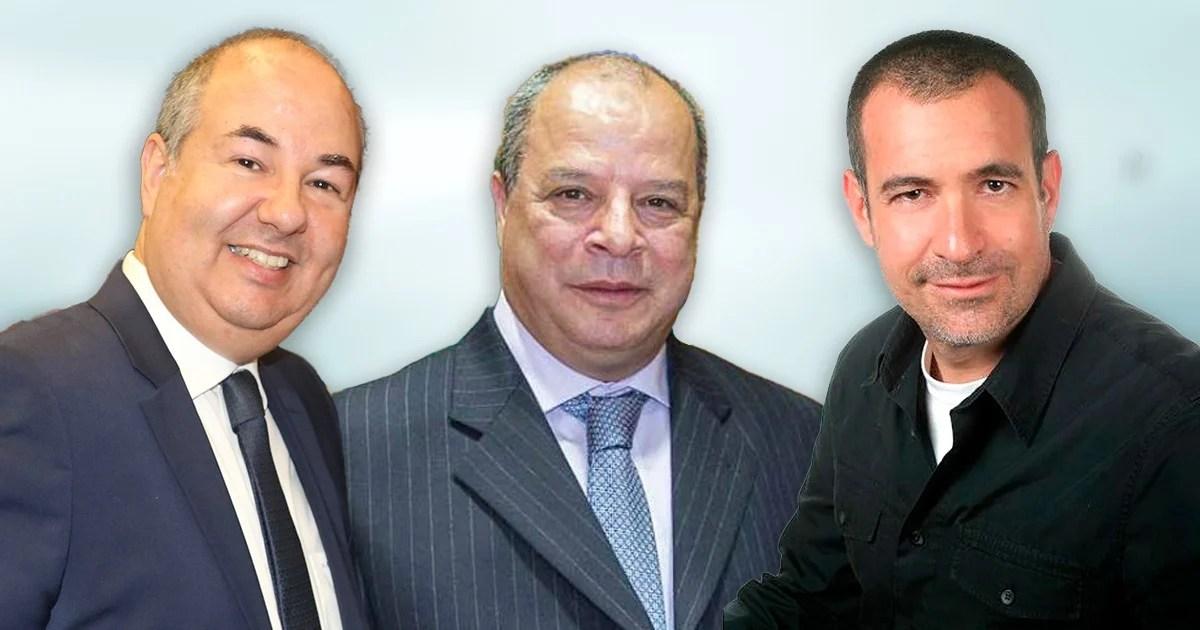 El embajador de israel Zvi Tal, el embajador de Marruecos Abdelfattah Lebbar, Mauricio Meschoulam en conferencia de COMEXI