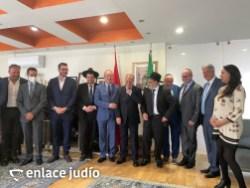 05-10-2021-RABINOS VISITAN LA EMBAJADA DE MARRUECOS PARA ANUNCIAR LA CREACIÓN DE NER HAMAARAVI 4