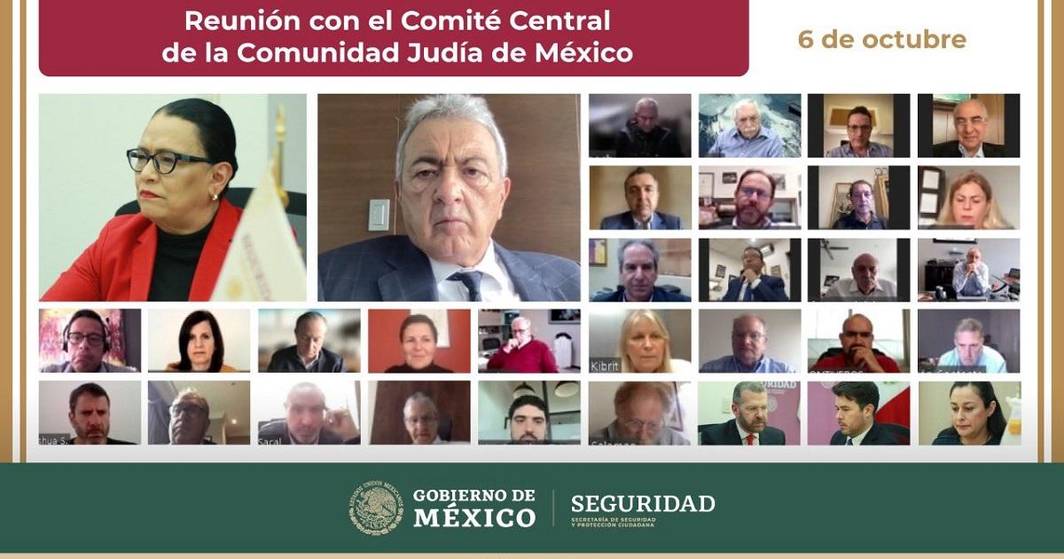 Rosa Icela Rodríguez y el Comité Central de la Comunidad Judía de México