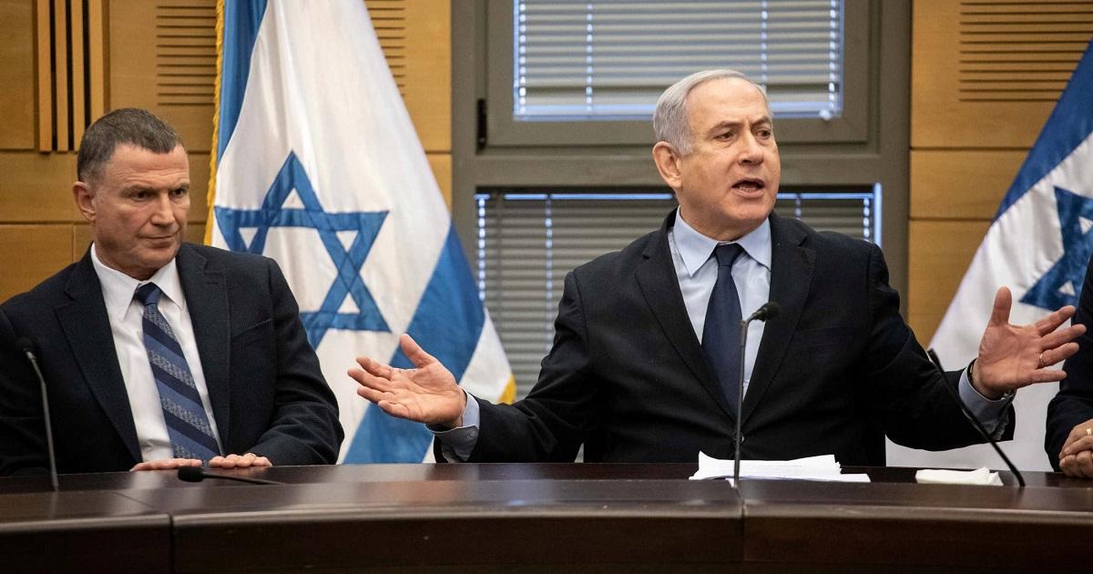 Yuli Edelstein y Benjamín Netanyahu