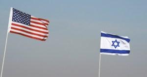 Banderas de Israel y Estados Unidos