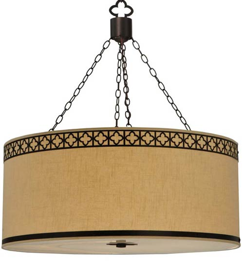 enLightenment Home Lighting Products: Meyda Cilindro Quatref oil Fabric Pendant 128049