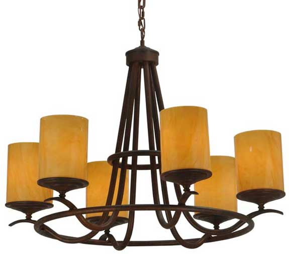 enLightenment Home Lighting Products: Meyda Octavia 6 Light Chandelier