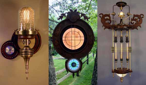 enlightenment home lighting magazine reports on Art Donovan: Steampunk Artist