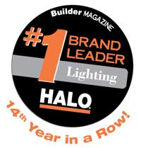 Cooper Lighting Halo  brand named the Brand Leader in lighting by Builder magazine