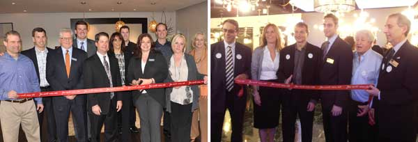 Former Murray Feiss showroom was transformed into adjoining showrooms for the newly named Feiss and Monte Carlo Fans