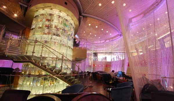 Chandelier Bar at The Cosmopolitan Hotel Las Vegas Designed by Focus Lighting, NY