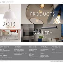Tech Lighting Retools Website